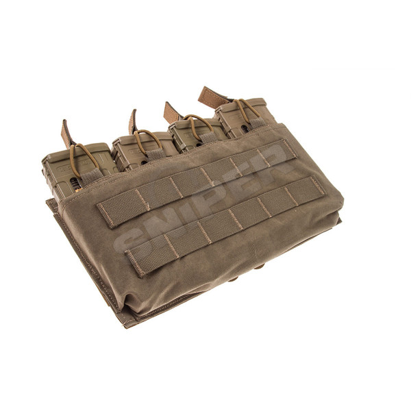 Quad M4 Mag Pouch, Open top in Ranger Green