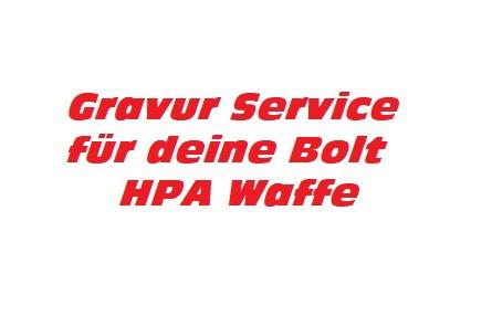 Service: Gravur für Bolt Block II HPA Dualtone