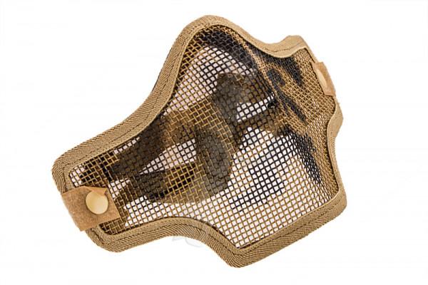 V Tactical 2G Mask Wire Mesh, Tan Skull