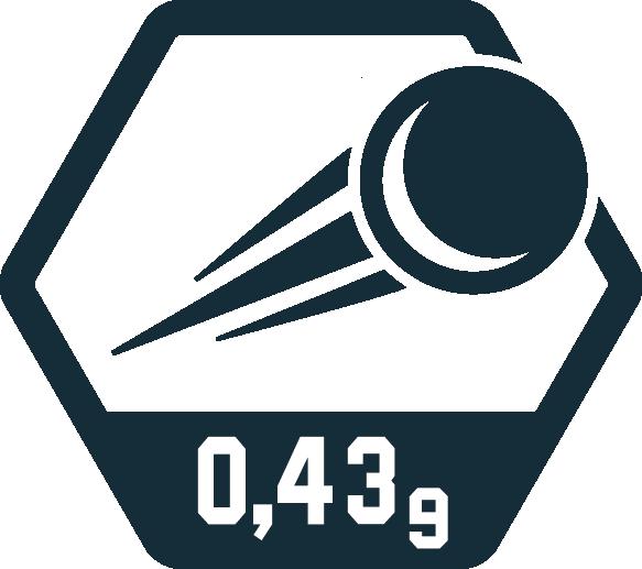 0,43 Gramm