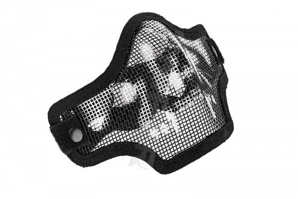 V Tactical 2G Mask Wire Mesh, Black Skull