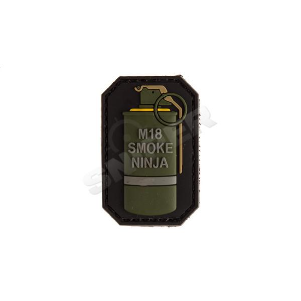 3D PVC Patch M-18 Smoke Ninja, yellow (B166)