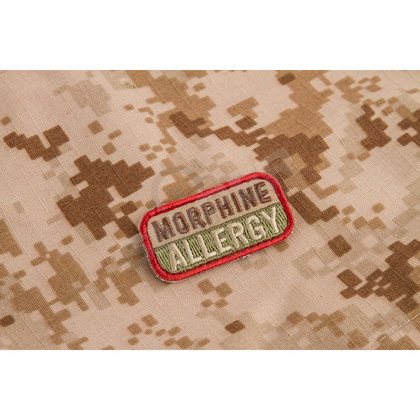 Morphine Allergy Patch, multicam (A117)