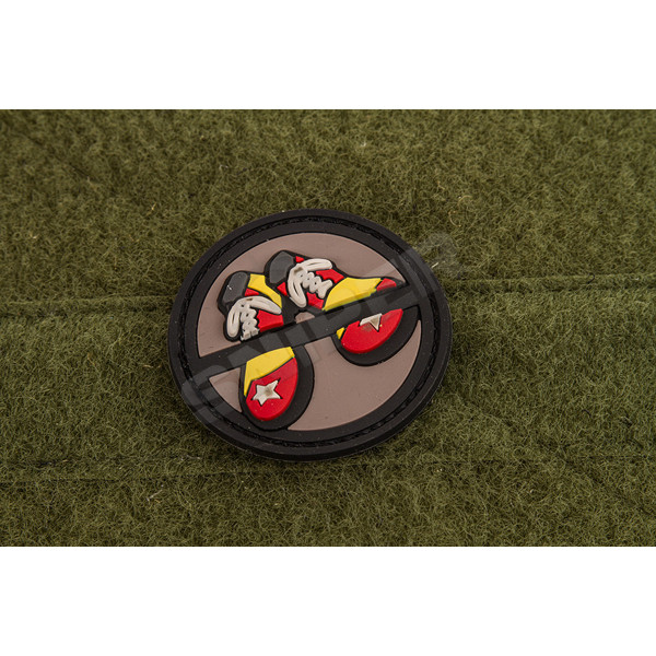 No Clown Shoes PVC Patch, black grey (A109)