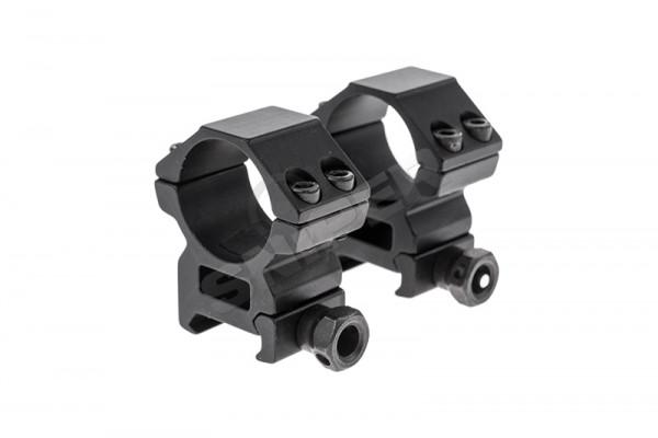 25mm Medium Profile Heavy Duty Scope Mount, Black