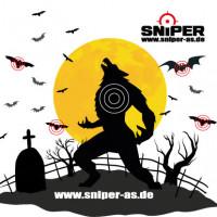 Zielscheiben 14x14cm, Werewolf Target, 100 Stück